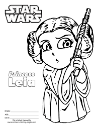 Small Picture Princess Leia Star Wars Coloring Pages Image Gallery HCPR