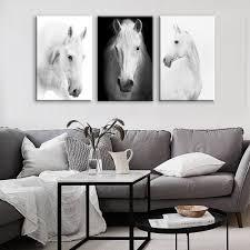 white horse wall art canvas prints modern art  on wall art prints for bedroom with white horse wall art canvas prints modern art home decor for living