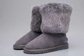UGG Women Fox Fashion Short Boots 5825 Grey