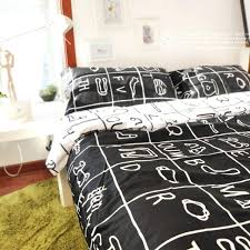 brief squares grid black with white kids bedding sets boys cool duvet covers and childrens uk