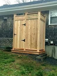 prefab outdoor shower enclosure enclosures cape cod company modular delivered stall