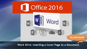 word tutorial inserting a cover page in a document  word 2016 tutorial inserting a cover page in a document 18