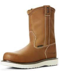 zoomed image ariat men s rebar wedge full grain leather work boots composite toe tan