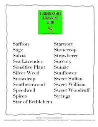 list of flower names from a to z alphabet list flower and shrub