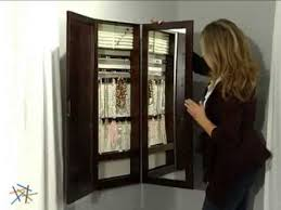 tri fold photo frame u0026 mirror wall mount jewelry armoire espresso product review video wall mounted jewelry armoire3