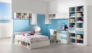 cool furniture for teenage bedroom. Outstanding Blue Furniture For Teenage Girl Bedrooms With White Shelves And Floral Bed Sheet Idea Cool Bedroom B