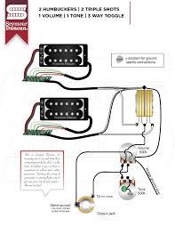 wiring diagrams seymour duncan part 32 Seymour Duncan Wiring Diagram 2 hum, 2 triple shots, 1 volume, 1 tone, 3 way toggle seymour duncan wiring diagrams humbucker