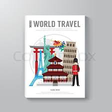 world travel business book template design can be used for e book cover e magazine cover vector ilration stock vector colourbox