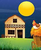 farm barn clip art. A Wooden Farm Barn Clip Art