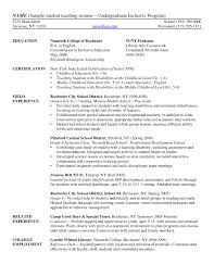 Undergraduate Resume Sample For Internship Inspirational College