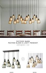 pottery barn paxton glass 8 light pendant copycatchiclookforless
