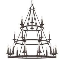quoizel voyager 3 light iron gate transitional tiered chandelier