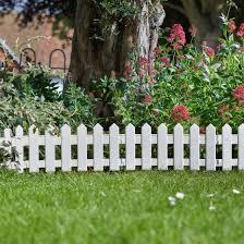 4 x smart garden white picket fence