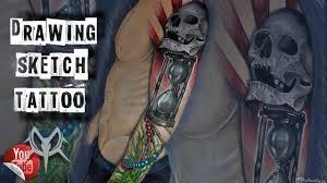 How To Draw Tattoo Sketch тату рукав