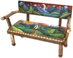 Painted Bench  What I Do  Pinterest  Painted Benches Bench Hand Painted Benches