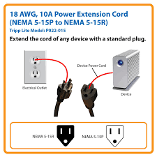 com tripp lite standard power extension cord a awg standard power cord extends your existing power connection by 15 feet