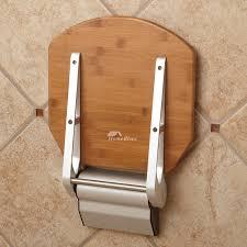 dpxe bamboo teak wood wall mounted folding shower seat