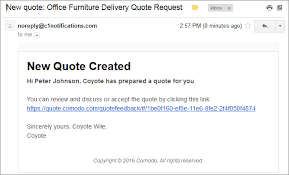 How To Quote A Quote Beauteous Step 48 Answer Feedback And Finalize A Quote Comodo Quote Manager