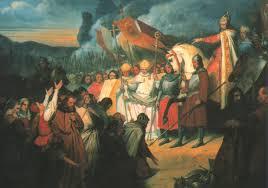 th anniversary of charlemagne s death acirc ballandalus ary scheffer charlemagne reatildesectoit la soumission de widukind atildenbsp paderborn 1840