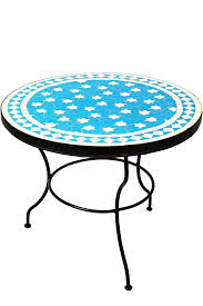 mosaic table estrella türkis white 60cm