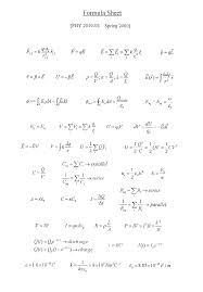 check out the formula sheets that will be provided in