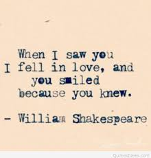 Shakespeare Quotes About Love Fascinating When I Saw You I Love You William Shakespeare Quote