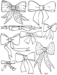 Small Picture Adult christmas bow coloring page Christmas Bow Coloring Page