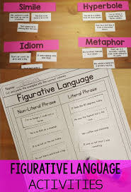 Figurative Language RL3.4   Figurative language activity, Common ...