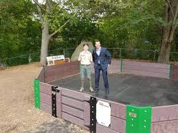 eagle scout helps build new gaga pit at branchville