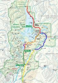 grand teton national park scenic drives locator map  travel