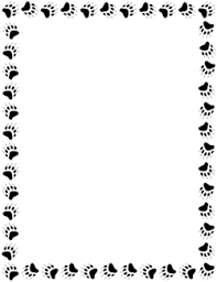 Bear Paw Print Border Borders For Paper Bear Paw Print