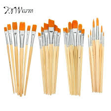 types of painting brush set diffe shape nylon hair paint brush set wooden handle acrylics gouache types of painting brush