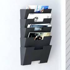 wood file folder organizer file folder holders decorative wall mount file folder holder organizer rack 5