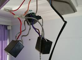 changing pull switch ceiling fan with faulty capacitor to