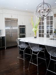 Modern Asian Kitchen Kitchen Modern White Kitchens With Dark Wood Floors Tv Above