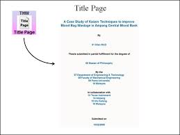 Master Thesis Cover Page Template Thesis Title Page Sample Maggihub