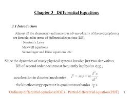 chapter 3 diffeial equations