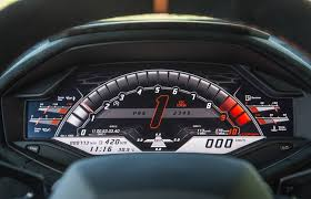 2018 lamborghini huracan interior. delighful 2018 the instrument panel of the 2018 lamborghini huracan performante to lamborghini huracan interior a
