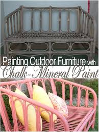 painting outdoor furniture with chalk mineral paint my island c