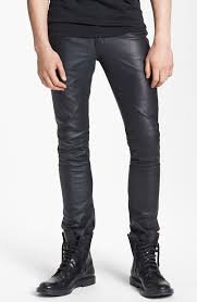 blk dnm rock n roll skinny fit leather