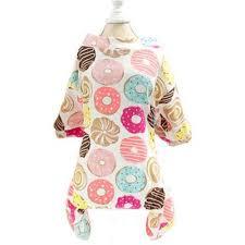 <b>Chihuahua</b> Small Dog Pyjamas Onesie Style <b>Donuts</b> Print White ...