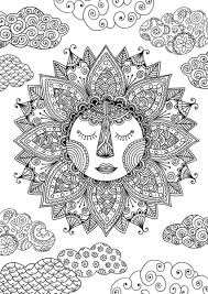 Sun Coloring Page By Felicity French