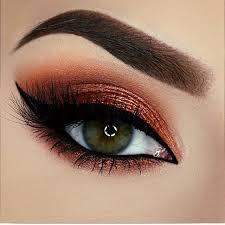 smoldering copper eye makeup