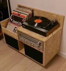 record storage furniture. cute little record player stand with speakers storage furniture
