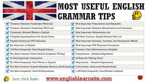 Grammar Tips Most Useful English Grammar Tips English Learn Site