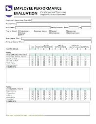 Construction Employee Review Template Sample Employee Evaluation Form Forms Hr Templates For