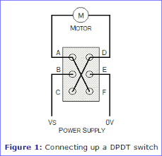 motor reversing switches electronics in meccano figure 1 connecting up a dpdt switch