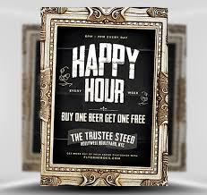 Happy Hour Invitation Template Framed Flyer Omfar Mcpgroup Co