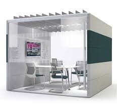 Orangebox Air 24 Office Pod  Furniture Scene a