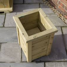 side small minterne wooden planter